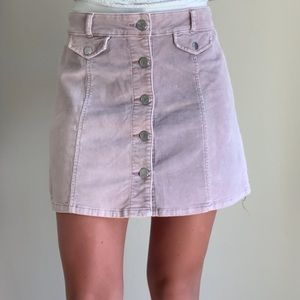 Urban Outfitters Lavender Corduroy Skirt